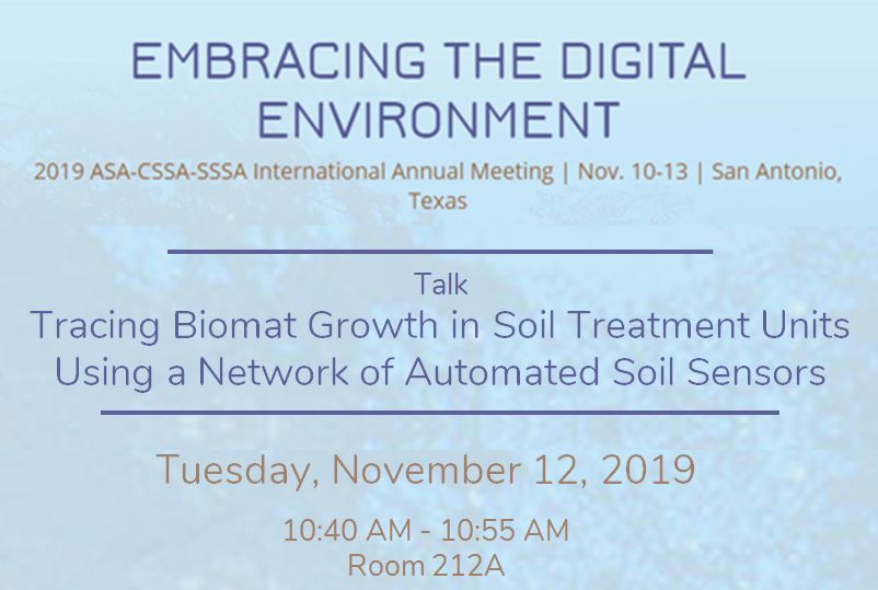 Tracing Biomat Growth in Soil Treatment Units Using a Network of Automated Soil Sensors
